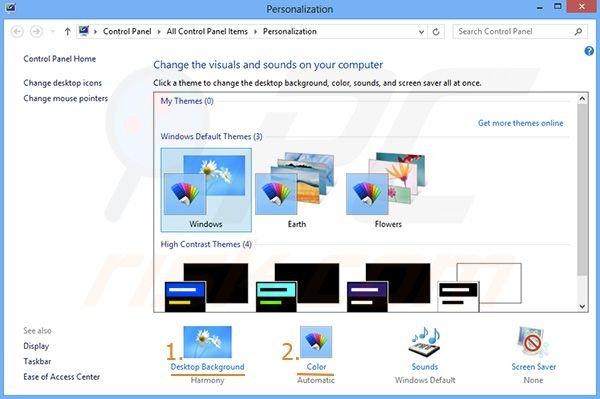 How to modify Windows 8 theme?