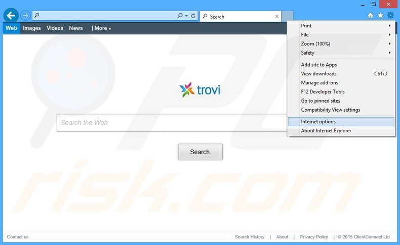Removing The proxy server is not responding ads from Internet Explorer step 2