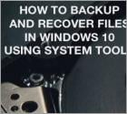 How To Backup And Recover Files In Windows 10?
