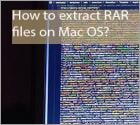 How to extract RAR files on Mac OS?