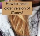 How to install an older version of iTunes?