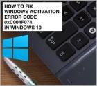 How To Fix Error Code 0xC004f074