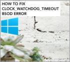 CLOCK_WATCHDOG_TIMEOUT - How to fix?