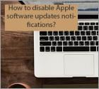 How to disable Apple software updates notifications?
