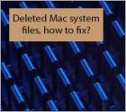 Deleted Mac system files, how to fix?