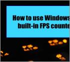 How to use Windows 10's built-in FPS counter
